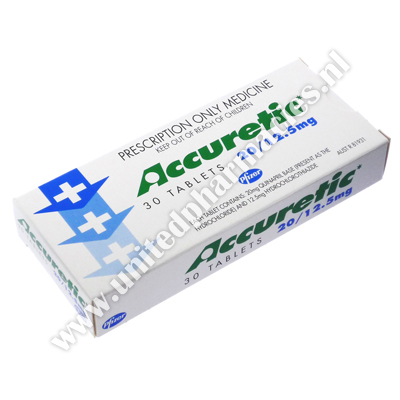 Accuretic (Quinapril Hydrochloride) - 20mg/12.5mg (30 Tablets)