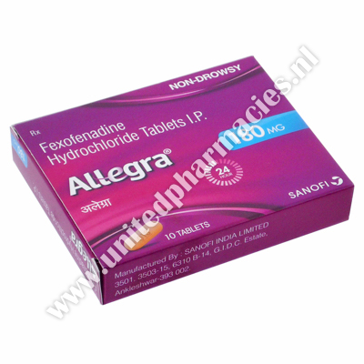 Allegra (Fexofenadine HCL) - 180mg (10 Tablets)