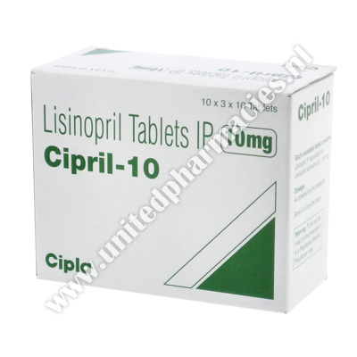 Cipril (Lisinopril) - 10mg (10 Tablets)
