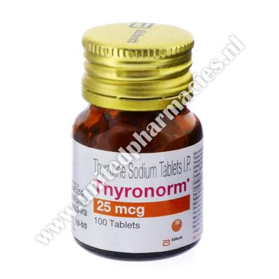 Thyronorm Thyroxine Sodium 25mcg 100 Tablets United