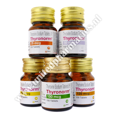 Thyronorm Thyroxine Sodium 25mcg 100 Tablets United