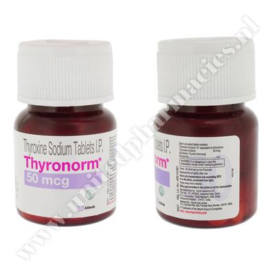 Thyronorm (Thyroxine Sodium) - 50mcg (120 Tablets)1