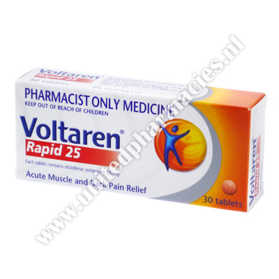 Voltaren Rapid (Diclofenac Potassium) - 25mg (30 Tablets)